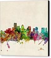 Boston Skyline Canvas Print by Michael Tompsett