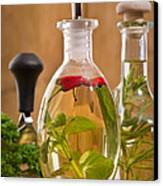 Bottles Of Olive Oil Canvas Print by Amanda And Christopher Elwell