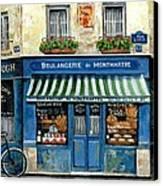 Boulangerie De Montmartre Canvas Print by Marilyn Dunlap
