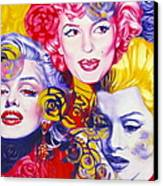 Bouquet Of Marilyn Canvas Print by Rebecca Glaze