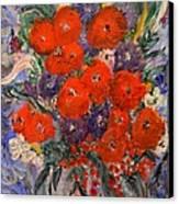 Bouquet Splash Canvas Print by Louise Burkhardt