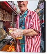 Bourbon Street - Lucky Dog And A Smile Canvas Print by Steve Harrington