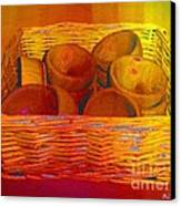 Bowls In Basket Moderne Canvas Print by RC deWinter