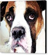Boxer Art - Sad Eyes Canvas Print by Sharon Cummings