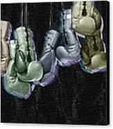 Boxing Gloves Canvas Print by Tony Rubino