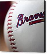 Braves Baseball Canvas Print by Ricky Barnard