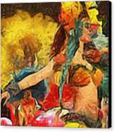 Brazilian Carnival Canvas Print by Ayse Deniz
