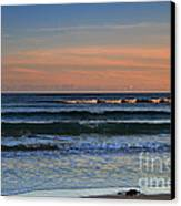 Breakers At Sunset Canvas Print by Louise Heusinkveld