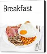 Breakfast Concept Canvas Print by Colin and Linda McKie