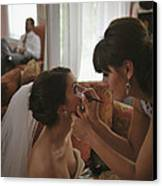 Bride Eyeliner Canvas Print by Mike Hope