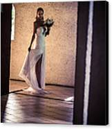 Bride. In Color Canvas Print by Jenny Rainbow