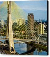 Bridge In Sao Paulo Canvas Print by Daniel Precht