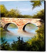 Bridge Under El Dorado Lake Canvas Print by Robert Carver