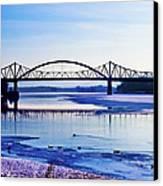 Bridges Over The Mississippi Canvas Print by Christi Kraft