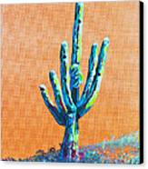 Bright Cactus Canvas Print by Greg Wells