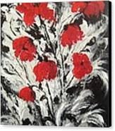 Bright Red Poppies Canvas Print by Renate Voigt