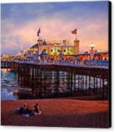 Brighton's Palace Pier At Dusk Canvas Print by Chris Lord