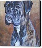 Brindle Boxer Canvas Print by Lee Ann Shepard