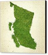 British Columbia Grass Map Canvas Print by Aged Pixel