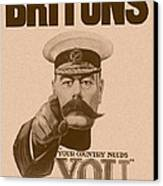 Britons Your Country Needs You  Canvas Print by War Is Hell Store