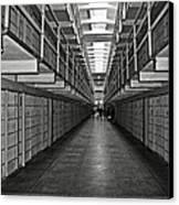 Broadway Walkway In Alcatraz Prison Canvas Print by RicardMN Photography