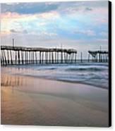 Broken Dreams - Frisco Pier Outer Banks I Canvas Print by Dan Carmichael