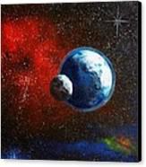 Broken Moon Canvas Print by Murphy Elliott