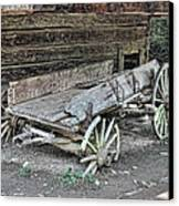Broken Wagon Canvas Print by Victor Montgomery