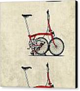 Brompton Bicycle Canvas Print by Andy Scullion