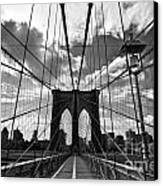 Brooklyn Bridge Canvas Print by Delphimages Photo Creations