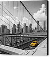 Brooklyn Bridge View Nyc Canvas Print by Melanie Viola