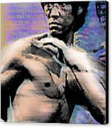 Bruce Lee And Quotes Canvas Print by Tony Rubino