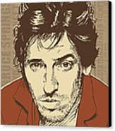 Bruce Springsteen Pop Art Canvas Print by Jim Zahniser