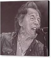 Bruce Springsteen V Canvas Print by David Dunne