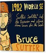 Bruce Sutter St Louis Cardinals Canvas Print by Jay Perkins