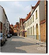 Bruges Side Street Canvas Print by Carol Groenen