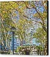 Bryant Park Afternoon Canvas Print by Richard Trahan