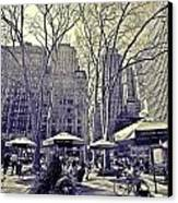 Bryant Park Canvas Print by Tony Ambrosio