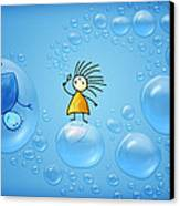 Bubble Folks Canvas Print by Gianfranco Weiss
