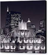 Buckingham Fountain Panorama Canvas Print by Steve Gadomski