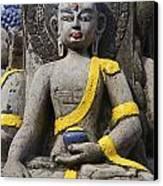 Buddha Figure In Kathmandu Nepal Canvas Print by Robert Preston