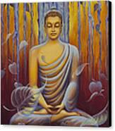 Buddha Meditation Canvas Print by Yuliya Glavnaya
