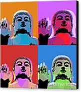 Buddha Pop Art - 4 Panels Canvas Print by Jean luc Comperat