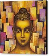 Buddha. Rainbow Body Canvas Print by Yuliya Glavnaya