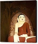 Buddha Statue In Dhammayangyi Paya Temple Canvas Print by Ruben Vicente