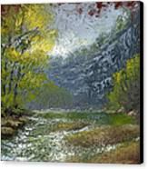 Buffalo River Bluff Canvas Print by Timothy Jones
