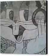 Buggs Bunny Canvas Print by Nakya Clark