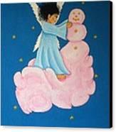 Building A Cloudman Canvas Print by Pamela Allegretto