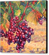 Bunch Of Grapes Canvas Print by Carolyn Jarvis