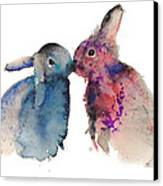 Bunnies In Love Canvas Print by Kristina Bros